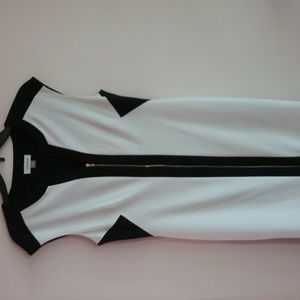 Calvin Klein Woman's Black and White Dress